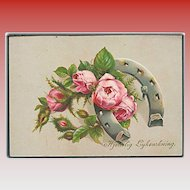 """Pink Roses and Horse Shoe""  (1920')"