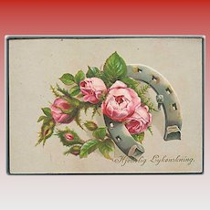 """""""Pink Roses and Horse Shoe""""  (1920')"""