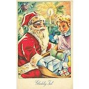 """Santa makes the boy happy""  (1957)"