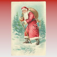 """""""Santa Claus with Cane and Sack""""  (1930)"""