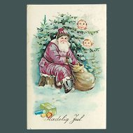 """""""Santa Claus in Gold and Burgundy""""  (1928)"""