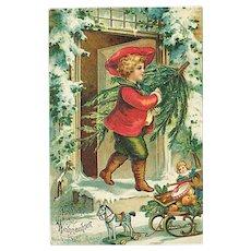 """Boy with Christmas Tree""  (1906)"
