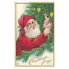 """""""Santa Claus decorating Christmas Tree"""" (1916)"""