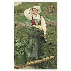 """Swedish Woman in traditional Costume""  (1906)"