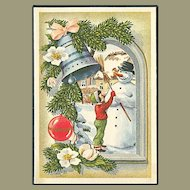 """""""Child Snowman and Christmas Bell""""  (1954)"""
