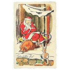 """""""Exhausted Santa""""  (1949)"""