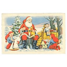 """Santa Claus playing with Children""  (1954)"
