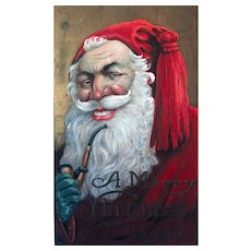 """Santa Claus with Pipe""  (1910')"