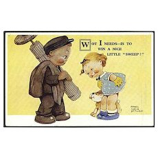 """""""Little Chimney Sweeper"""" by Mabel Lucie Attwell (1960')"""