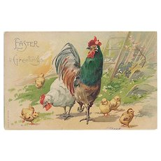 """Rooster, Hen and Chickens""  (1907)"
