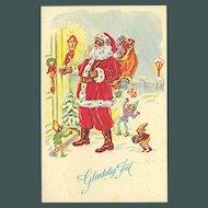 """""""Santa Claus at the Door"""""""