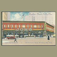 """Joe's Restaurant""  (1950')"
