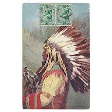 """""""Chief Yellow Thunder""""  (1907)"""