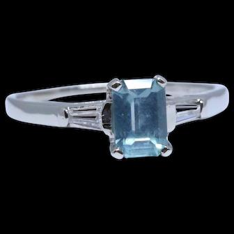 Mid-century platinum ring with 1.18 ct unheated Montana sapphire + diamonds (Gübelin certificate)
