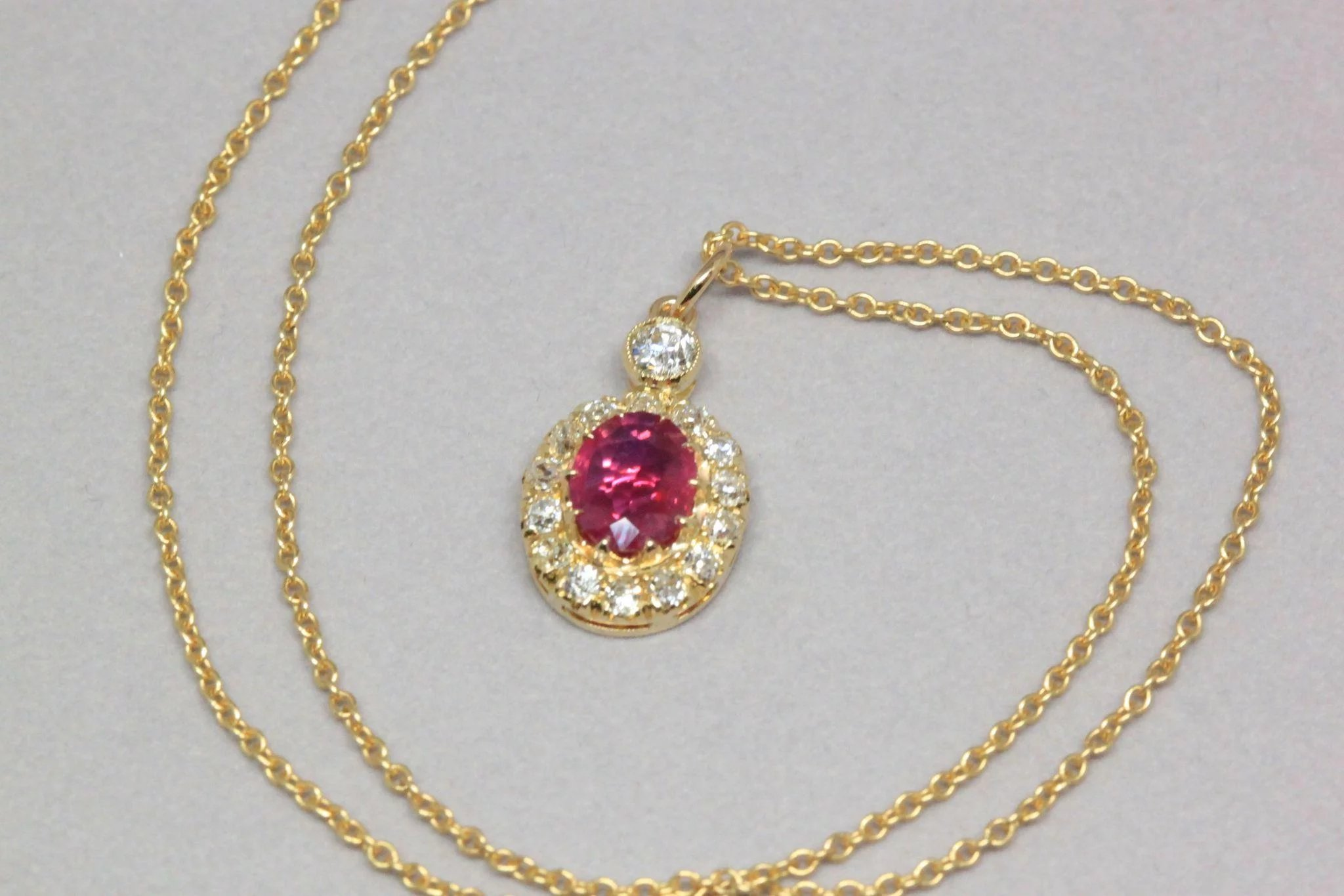 antique ruby estimate and diamond victorian necklace myshoplah lot