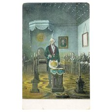 George Washington Alexandria Washington Lodge no 22 General Washington at the Altar Postcard 1910