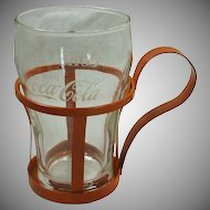 Coca Cola Glass and Orange Holder 1970's