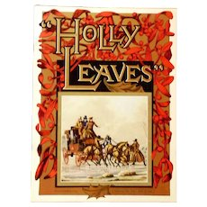 Holly Leaves Magazine 1964 Christmas Edition - Red Tag Sale Item