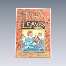 Holly Leaves Magazine 1959 Christmas Edition