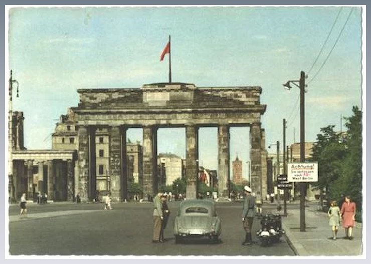 vintage berlin the wall germany check point 1956 postcard cheap furniture