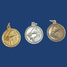Three Levels of Award Piano Medals