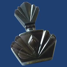 Purple Amethyst Color Miniature Glass Perfume Bottle