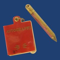 1940 Miniature Autograph Book and Pencil