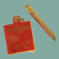 1940 Miniature Autograph Book and Pencil