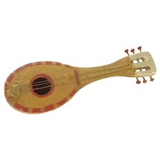 Miniature Wooden Musical Mandolin Instrument