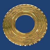 Round Gold Tone Scarf Clip