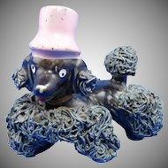 Vintage Black Spaghetti Poodle Dog Figurine