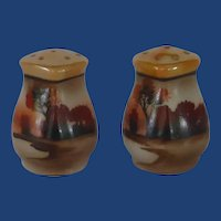 Hand Painted Nippon Japan Salt and Pepper Shakers