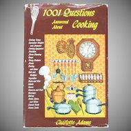 1001 Questions About Cooking  Book / Adams