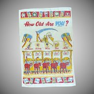 How Old Are You? Risqué Kitchen Towel