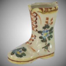 Ceramic Tooth Pick Holder Boot Shoe Japan 1950's