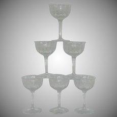 Fostoria Greek Etched Stem Liquor Cocktail Glass