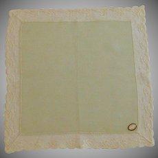 Lace Edged Sheer Green Ireland Handkerchief