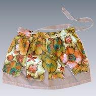 1960's Vintage Reversible Tie Peach & Green Apron