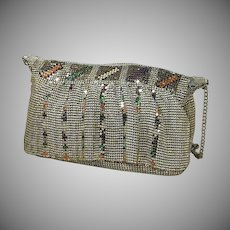 Silver Mesh with Multi Mesh Accents Purse