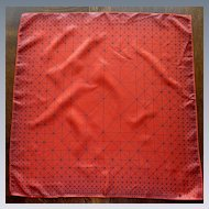 Bright Red with Black Geometric Lines Vera Scarf