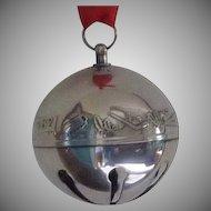 1982 Silver Plate Annual Sleigh Bell Christmas Ornament