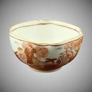 Hand Painted Salt Dish Plate Seven Lucky Gods of Japan