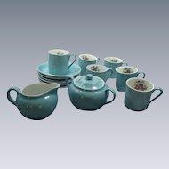 """Victoria"" Czechoslovakia China Small Demitasse Tea Coffee Set"