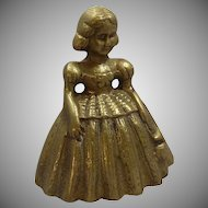 Brass Bell Shaped Southern Belle Girl