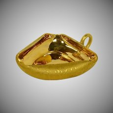 Epiag Czechoslovakia Gold Triangle Nut / Mint Dish Bowl