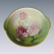 Signed Bavaria Porcelain Hand Painted Bowl