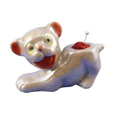 Lusterware Dog Pin Cushion 1950's