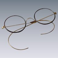 Wire Rim Vintage Eye Glasses with Case