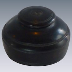 Miniature Round Wood Box with Cover