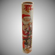 Santa Tall Tube Match Container with Fireplace Matches